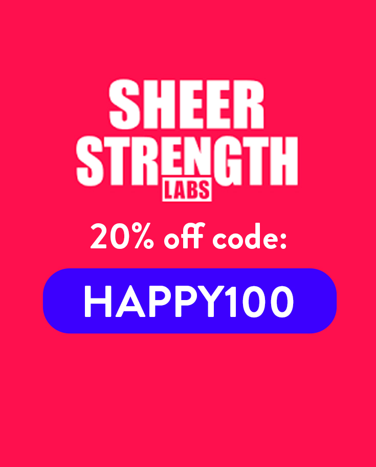 Sheer Strength Labs Discount Code: 20% with 'HAPPY100'