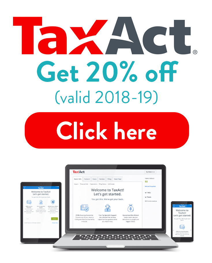 Tax Act Coupon Code 2018 - 2019 | Get 20% off your TaxAct order