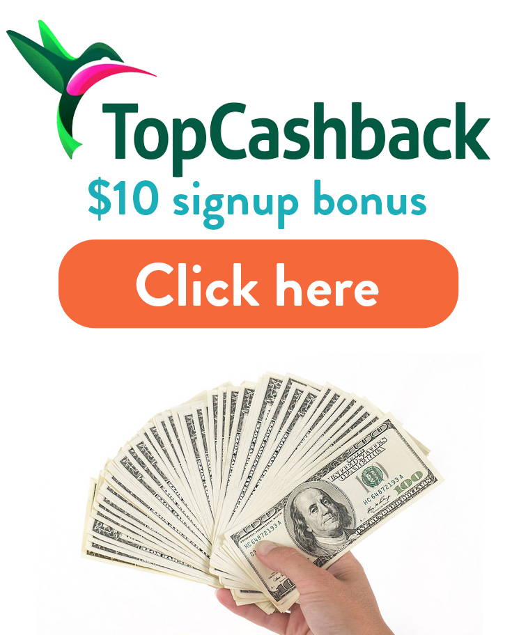 TopCashBack Signup Bonus: Get $10 free with this referral link!