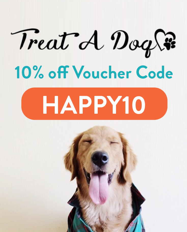 Treat a Dog Voucher Code | Get 10% off with code HAPPY10