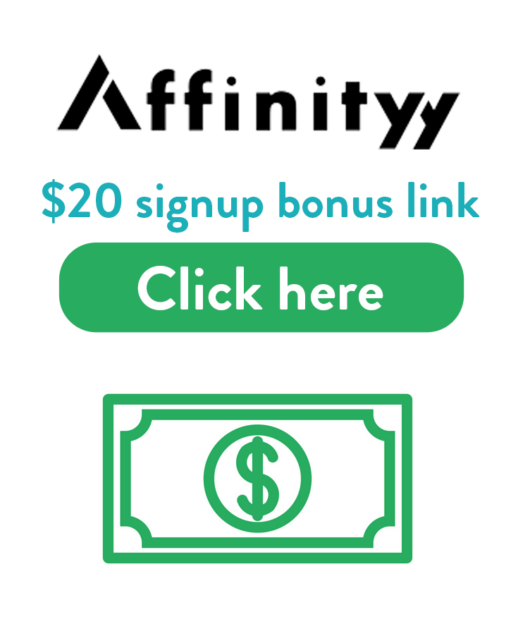 Affinityy Sign Up Promo Code | Get a $20 free bonus