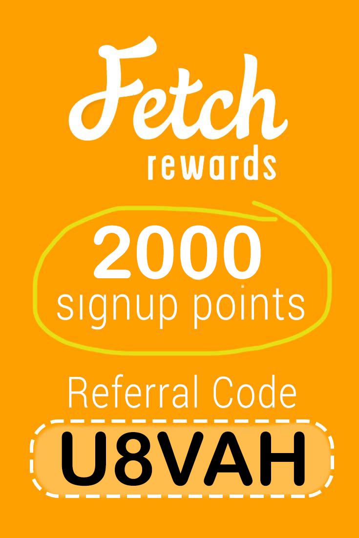 Fetch Rewards Referral Code: Get 2000 points free with code U8VAH