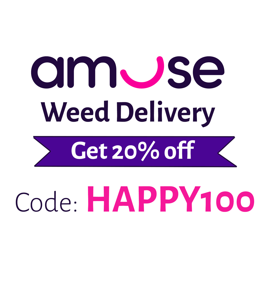 Code: HAPPY100 | 20% Amuse Cannabis Delivery Promo Code
