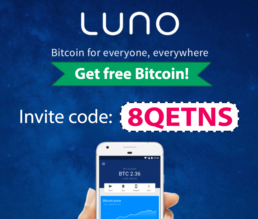 Luno Invite Code | Free Bitcoin with code: 8QETNS