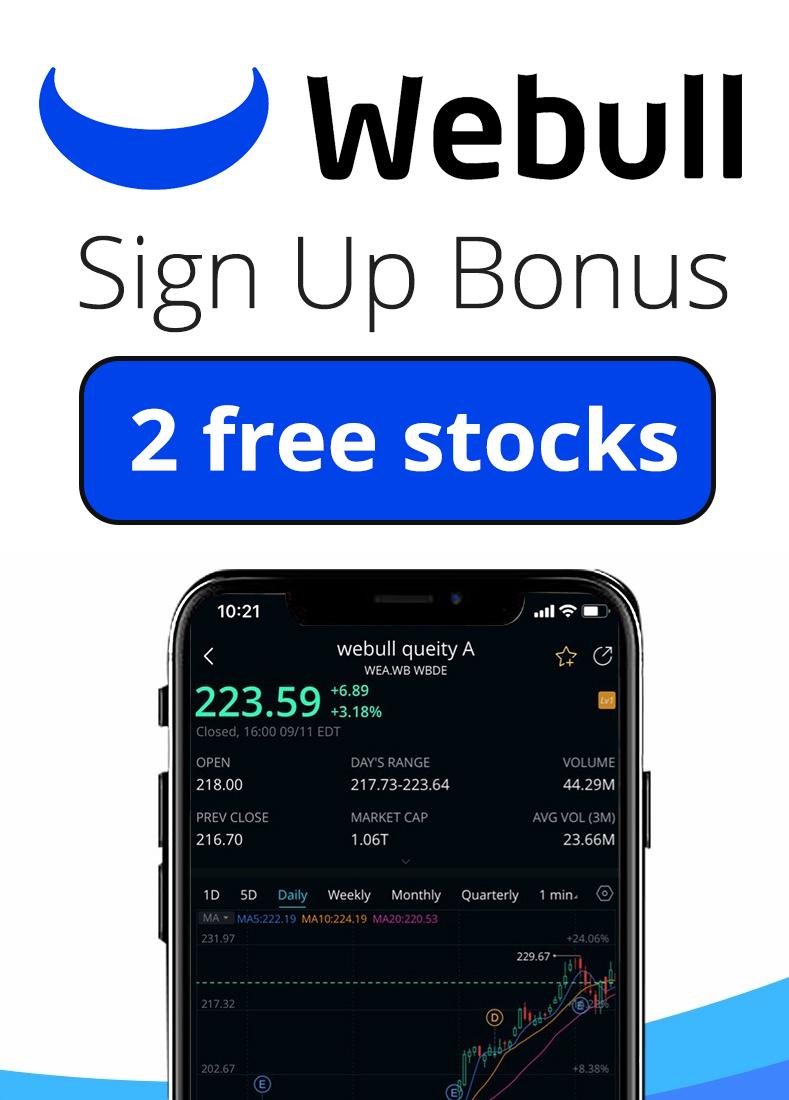 Webull Referral Code 2021 - 2022 | Get 2 FREE stocks as a sign up bonus