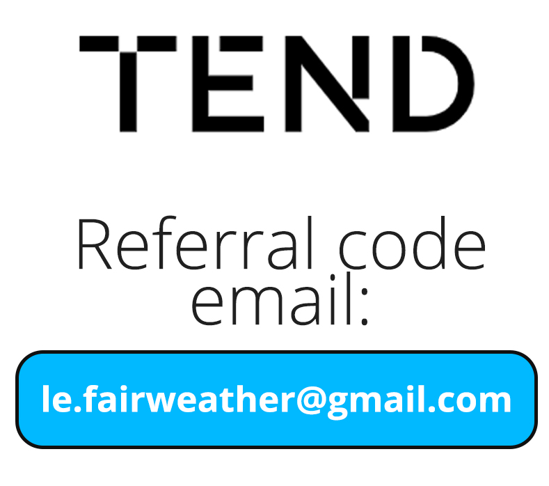 Tend Money Referral Code email: le.fairweather@gmail.com